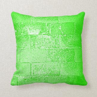 Green Wall. Digital Art. Throw Pillow