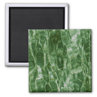Green Water 2 Inch Square Magnet