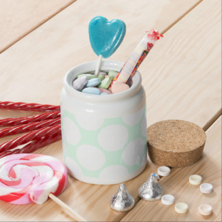 green water and great white spots candy jar