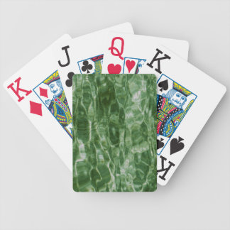 Green Water Bicycle Playing Cards