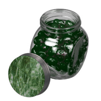 Green Water Glass Jars