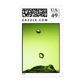 Green water drops stamps