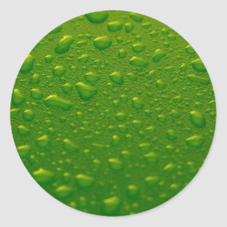 Green water drops sticker