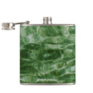 Green Water Hip Flask