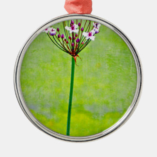 green water lily metal ornament
