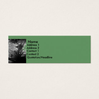 GREEN WATER PLANT MINI BUSINESS CARD