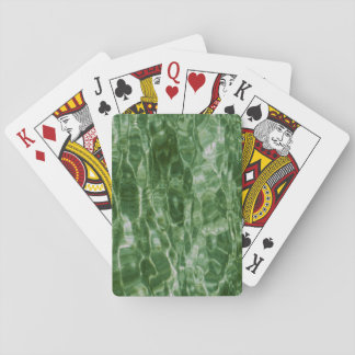 Green Water Playing Cards