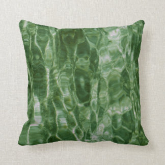 Green Water Throw Pillow