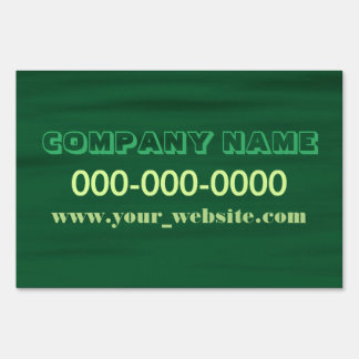 Green Water Yard Sign