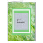 Green Watercolor Abstract Picture Album Template Greeting Card