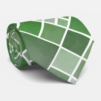 Green Watercolor Christmas Design Tie