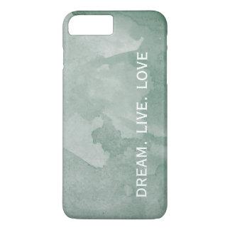 Green Watercolor DREAM LIVE LOVE iPhone 8 Plus/7 Plus Case