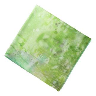 Green Watercolor Floral Bandana
