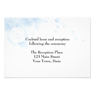 Green Watercolor Floral Reception Card Custom Announcement