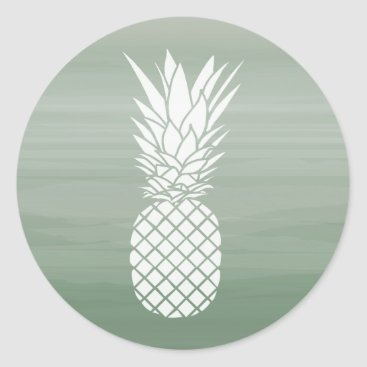 Green Watercolor Inspired Pineapple Sticker