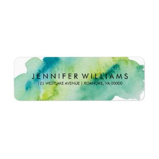 Green Watercolor Label