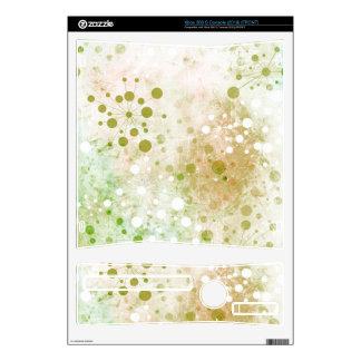 Green Watercolor Retro 60's Design Xbox 360 S Console Skin