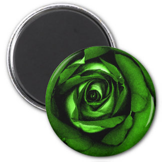 Green Watercolor Rose by Jeff Pierson 2 Inch Round Magnet