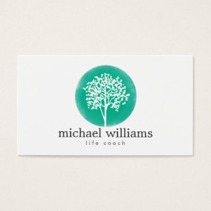 Psychotherapy business cards templates zazzle green watercolor tree life coach counselors business card colourmoves