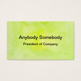 Green Watercolor Wash Business Card