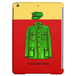 Green Watercolour Chairman Mao Coat and Hat iPad Air Covers