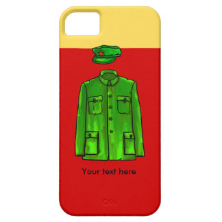 Green Watercolour Chairman Mao Coat and Hat iPhone SE/5/5s Case