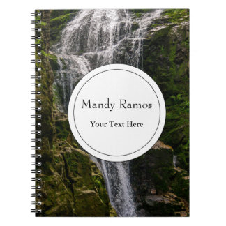 Green Waterfall Landscape Photo Notebook