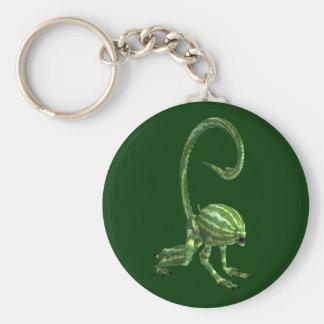 Green Watermelon Extraterrestrial Species Basic Round Button Keychain