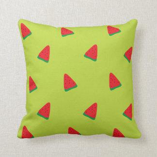 Green Watermelon Pattern Throw Pillow