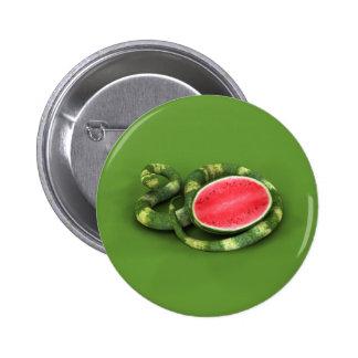 Green Watermelon Snake Button
