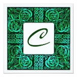 Green Waters Celtic Knotwork Wedding Invitation