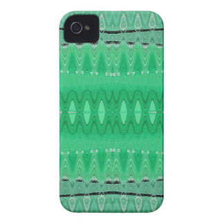 Green wave abstract iPhone 4 Case-Mate cases