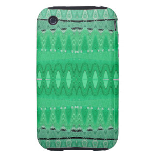 Green wave abstract tough iPhone 3 case