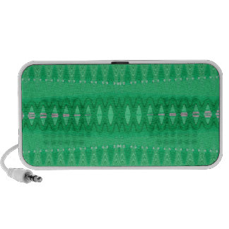 Green wave abstract travelling speaker