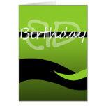 Green Wave Birthday Card