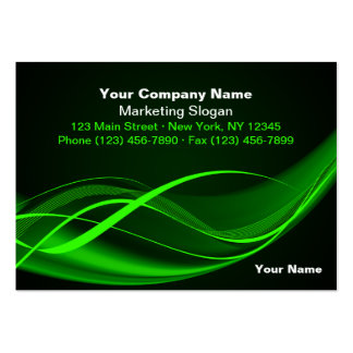Green Wave Large Business Cards (Pack Of 100)
