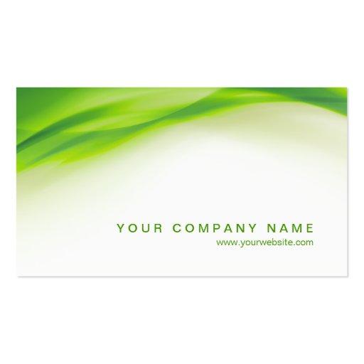 Green Wave business card (back side)
