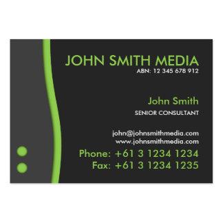 Green Wave Business Card (Dark)