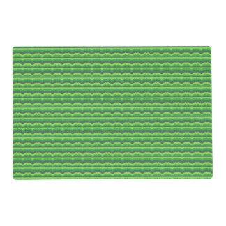 Green Wave Pattern Placemat
