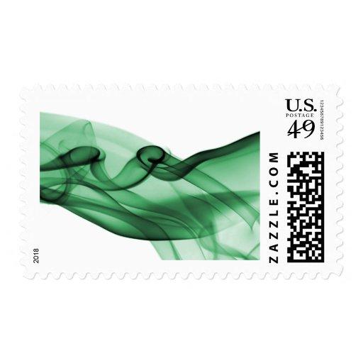 Green Wave Postage Stamp