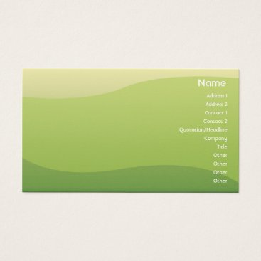 Professional Business Green Waves - Business Business Card