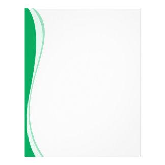 Green Waves Side Letterhead