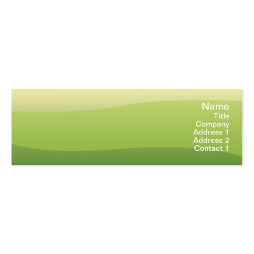 Green Waves Skinny Mini Business Card