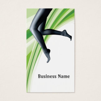 Green Waves Women Fitness Business Card
