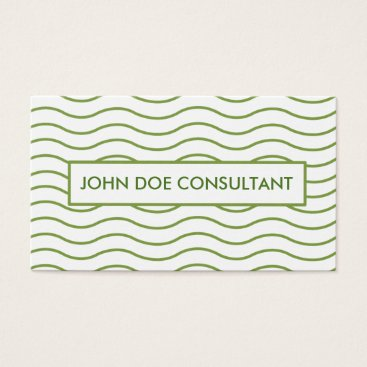 Professional Business Green Wavy Lines Business card