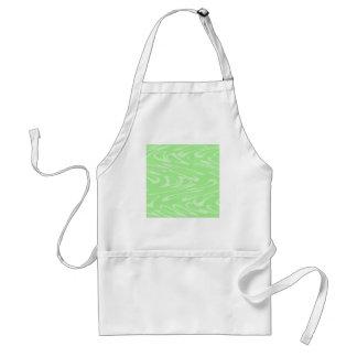 Green Wavy Pattern. Apron