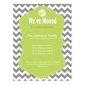Green We ve Moved Change of Address Postcards