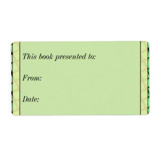 Green Weave Book Gift Shipping Label