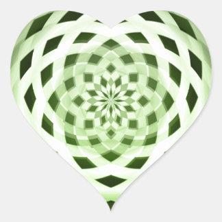green weave heart sticker