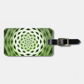 green weave bag tag